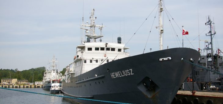ORP Heweliusz with new echo sounder